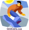 Vector Clip Art picture  of a snowboarder
