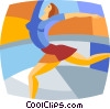figure skater Vector Clip Art graphic