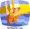 synchronized swimmers Vector Clip Art picture