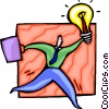 Vector Clip Art graphic  of a Businessman with an idea