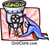 Vector Clipart graphic  of a money grinders