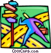 Vector Clipart illustration  of a looking for directions