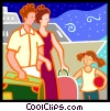 Family vacation Vector Clipart picture