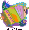 Vector Clipart image  of an accordion