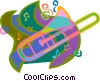 Vector Clipart picture  of a trombone