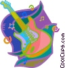 Vector Clip Art image  of a electric guitar