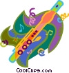 Vector Clipart illustration  of a flute