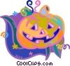 Vector Clipart graphic  of a Halloween pumpkins