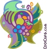 Vector Clip Art picture  of a cornucopia