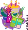 birthday parties Vector Clipart image
