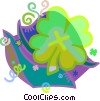 Vector Clipart illustration  of a Four leaf clover