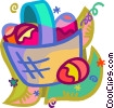 Vector Clip Art image  of a Easter baskets