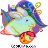 Easter bunnies Vector Clipart picture