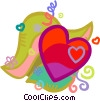 Vector Clipart graphic  of a Valentines heart