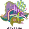 Vector Clipart illustration  of a deck chairs