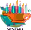 Vector Clip Art image  of a candles