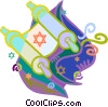 Vector Clipart image  of a Jewish religion