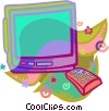 color television Vector Clip Art graphic