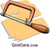 Vector Clip Art graphic  of a handsaw
