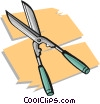 Vector Clipart graphic  of a garden shears