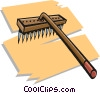 Vector Clipart illustration  of a rake