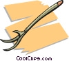 Vector Clip Art graphic  of a garden hoe