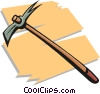 Vector Clip Art image  of a pick axe