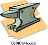 Vector Clip Art image  of an anvil