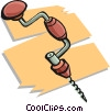 hand drill Vector Clip Art graphic