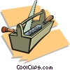Vector Clipart graphic  of a toolboxes