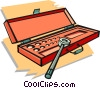 Vector Clip Art image  of a ratchet set