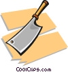 Vector Clip Art image  of a meat cleaver