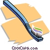 Vector Clipart picture  of a toothbrush