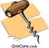 corkscrew Vector Clip Art graphic