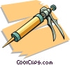 caulking gun Vector Clipart graphic