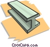 Vector Clip Art graphic  of a steel beam