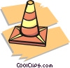 Vector Clip Art graphic  of a pylon