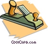Vector Clipart graphic  of a wood plane