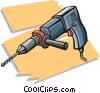 Vector Clipart image  of a power drill
