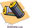 Vector Clip Art graphic  of a batteries