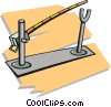 Vector Clip Art image  of a toll booth