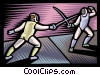 Foilsmen fencing Vector Clipart graphic