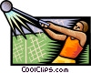 Hammer throw Vector Clipart illustration