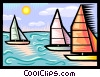 Vector Clipart graphic  of a Sailboats