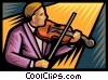 Vector Clipart graphic  of a concert violinist