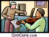 violin lessons Vector Clipart graphic