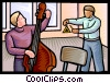 Vector Clip Art graphic  of a music lessons