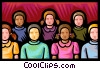 audience Vector Clipart illustration
