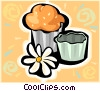 Vector Clip Art image  of a muffin
