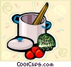 pasta dishes Vector Clipart illustration